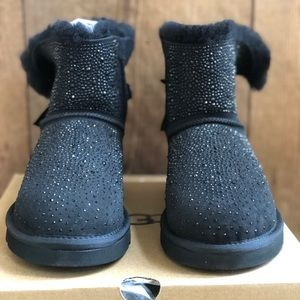uggs rhinstones bailey bow boots bling 8